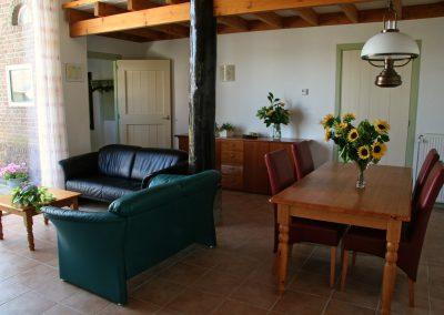 vakantieappartement drenthe woonkamer andewieke